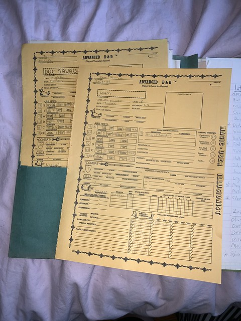 My brother's old school D&D stuff from the 80s