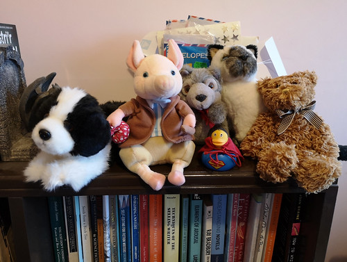 Toys on the bookcase