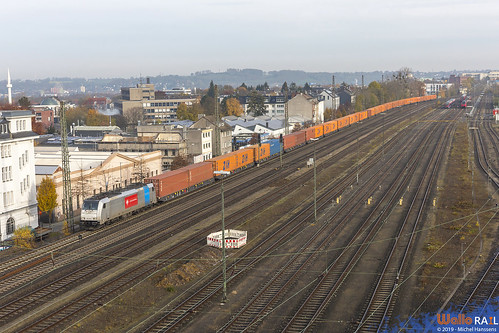 186 438 . Crossrail . 45498 . China Express . Aachen Rothe Erde. 21.11.19.