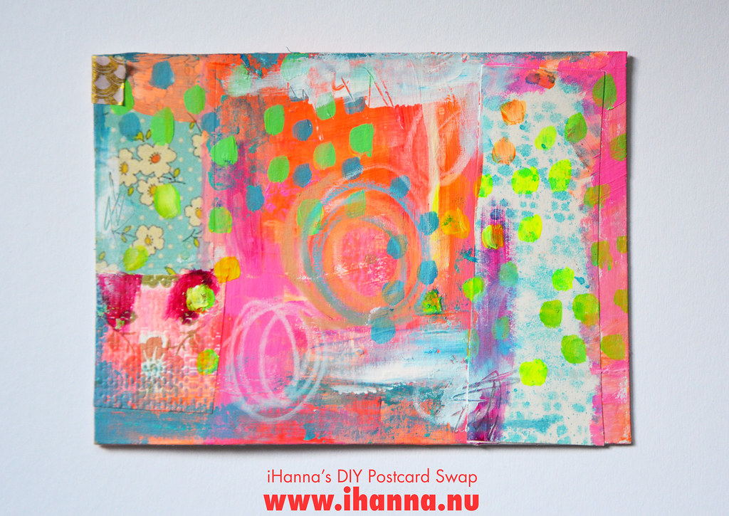 Mixed media DIY Postcard by iHanna fall 2019 no 1 #diypostcardswap