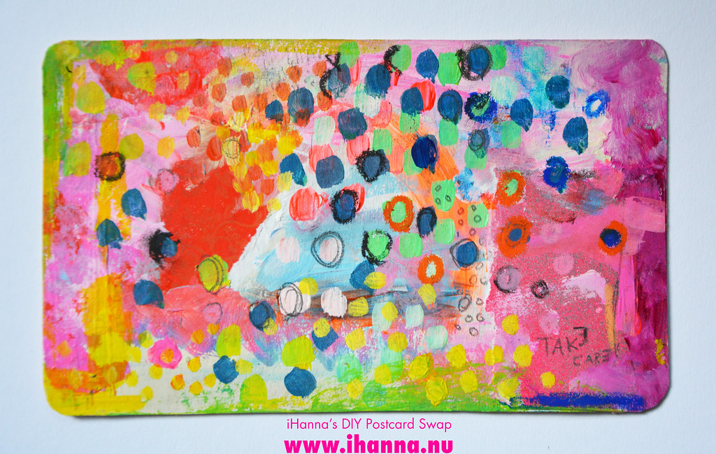 Mixed media DIY Postcard by iHanna fall 2019 no 6