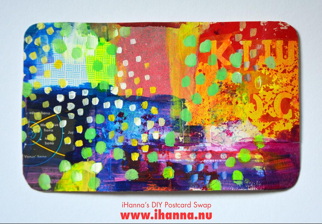 Mixed media DIY Postcard by iHanna fall 2019 no 4