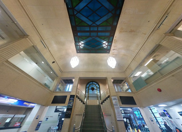 Panorama, looking west and up #toronto #torontocoachterminal #architecture #stairs #googlephotos #panorama