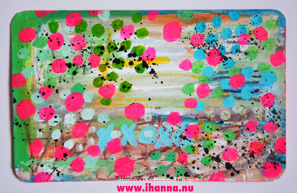 Mixed media Bonus Postcards for the Swap by iHanna #diypostcardswap