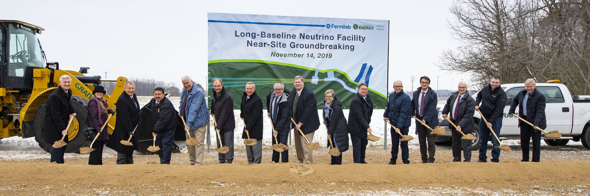 International partners join Fermilab to break ground on the Long-Baseline Neutrino Facility beamline