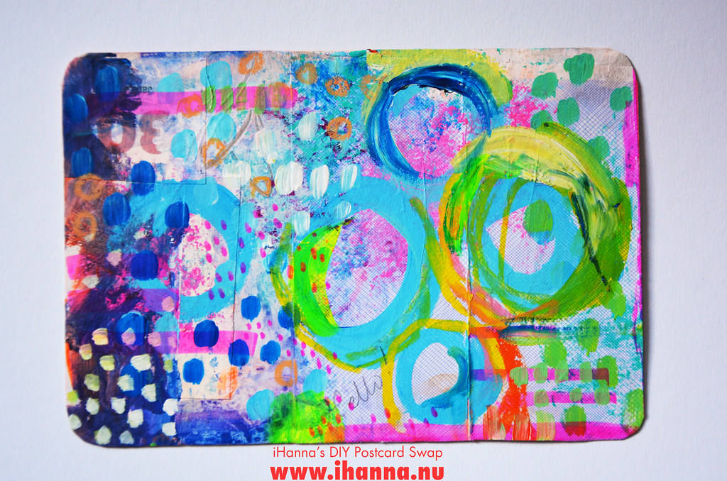 Mixed media DIY Postcard by iHanna fall 2019 no 2