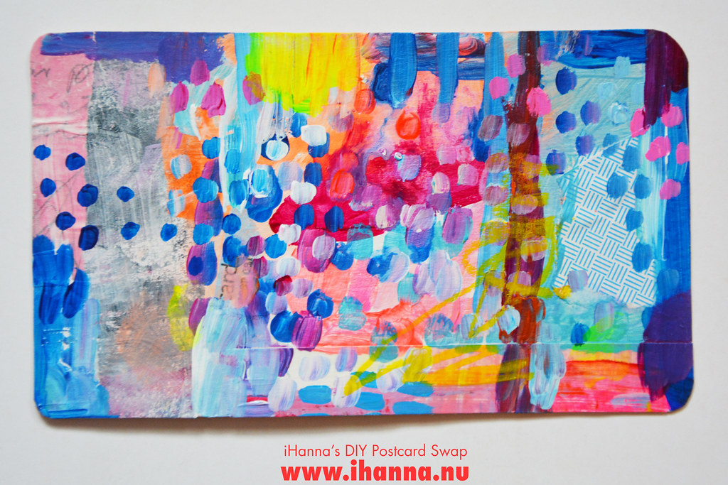 Mixed media DIY Postcard by iHanna fall 2019 no 9