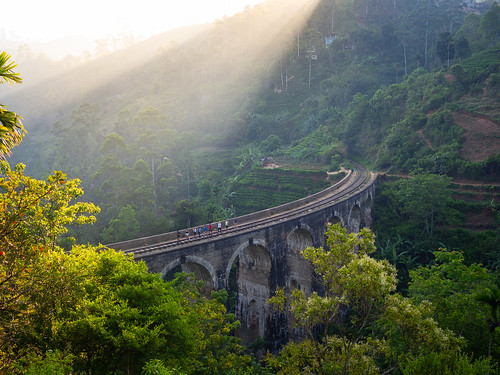 srilanka travel asia southeastasia olympus omd omdem10 em10 traveling worldtravel backpacking bridge train landscape sunrise forest rail ella m43
