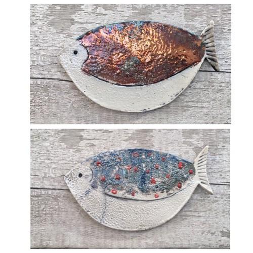 Raku ceramic fish