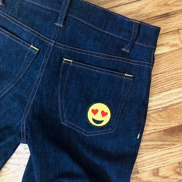 Heart on Ginger Jeans