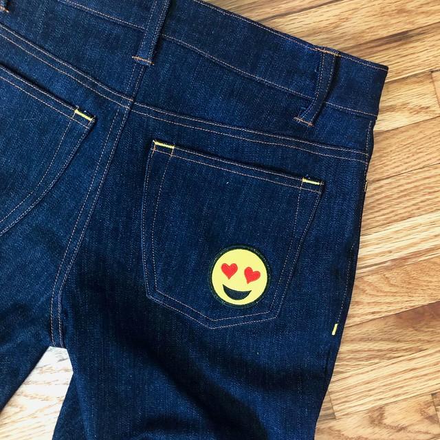 Heart on Ginger Jeans