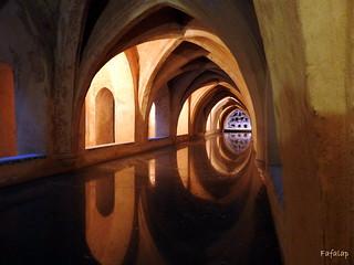 Bains arabes à l'Alcazar en Andalousie