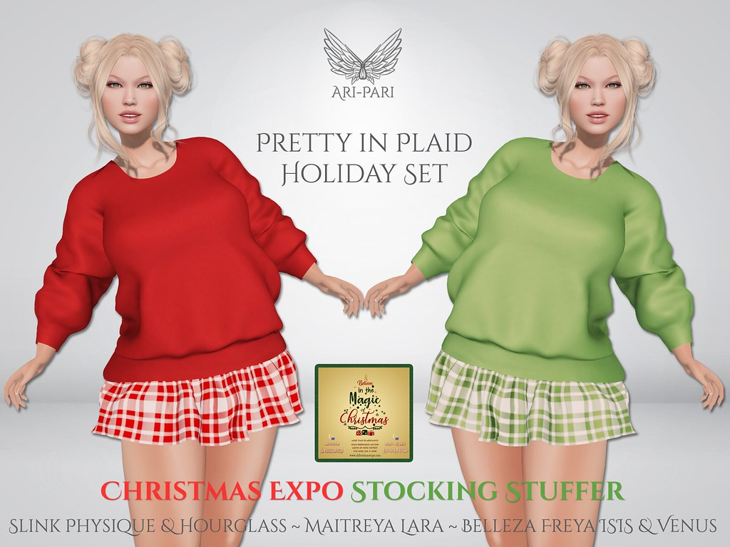 [Ari-Pari] Pretty In Plaid Holiday Set