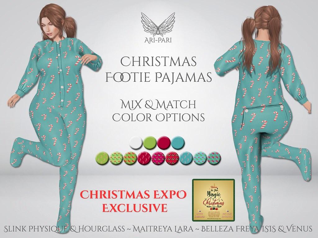 [Ari-Pari] Christmas Footie Pajamas