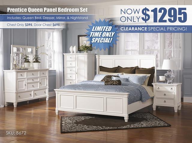 Prentice Panel Bedroom Set_B672_ClearanceSpecial