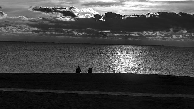 Crépuscule sur Noirmoutier.