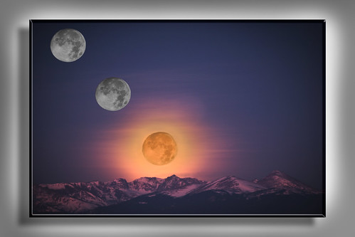 3 Full MoonSet over Rocky MTN