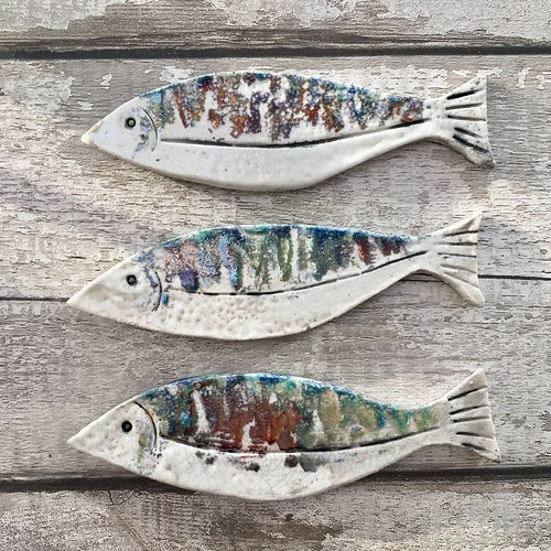 Hanging ceramic fish