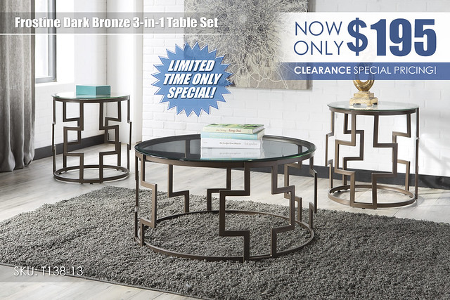 Frostine Dark Bronze 3 in 1 Table Set_Clearance_T138-13