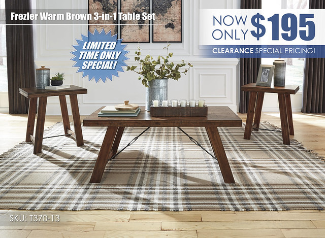 Frezler Warm Brown 3 in 1 Table Set_Clearance_T370-13