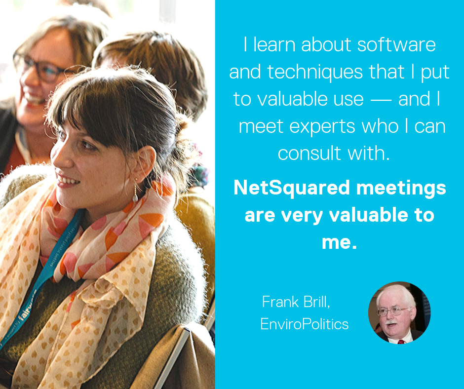 NetSquared testimonial —new software and experts NetSquared very valuable to me