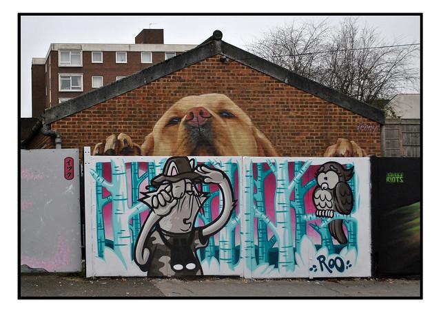 LONDON STREET ART by IRONY & ROO