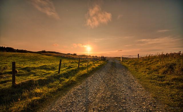Sunset in Melvich, Scotland.