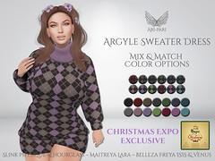 [Ari-Pari] Argyle Sweater Dress