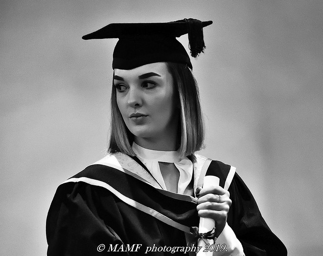 My daughter Bethany at her graduation day in York.