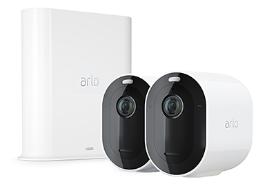 The new Arlo Pro 3 features 2K resolution with high dynamic range (HDR), an integrated spotlight with color night vision and a wide 160-degree field of view.