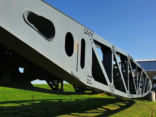 WWII Normandy Invasion 'Whale' bridge section - Imperial War Museum, Duxford, England