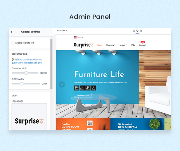 Surprise - Furniture Store Free Shopify Theme