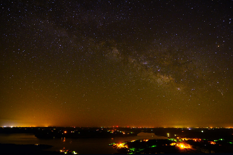 Milky Way over Beaver Lake, Arkansas. Nikon D-7000 with Tokina AT-X Pro SD  11-16mm lens.