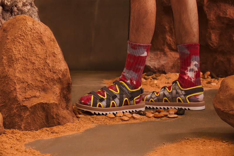 SUICOKE Zip Yellow Sandals