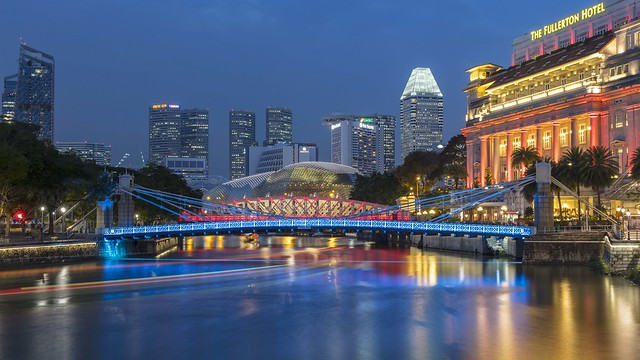 Singapore River & Fullerton Hotel Night [Explored 22 Nov 2019]