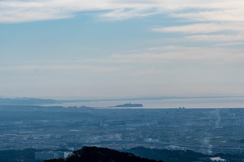鐘ヶ嶽から見る江ノ島