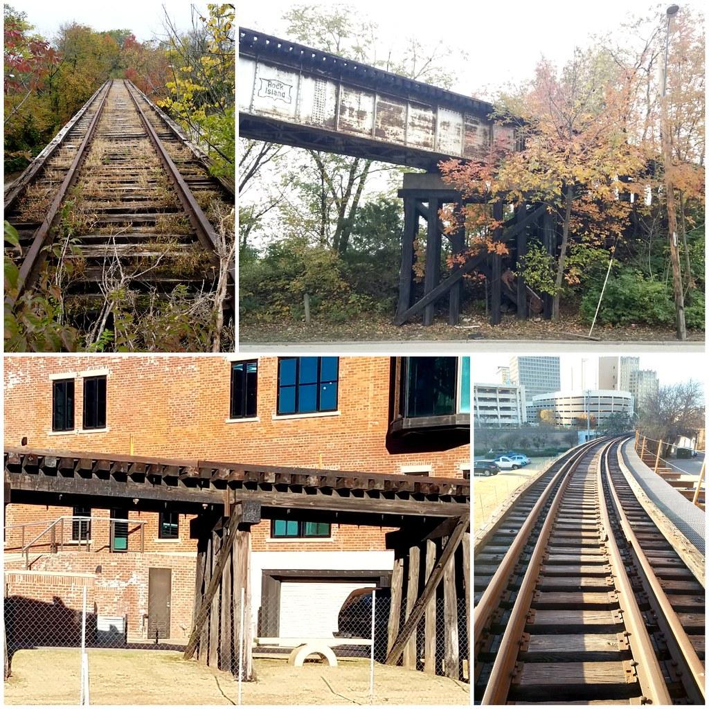 Abandoned train bridges