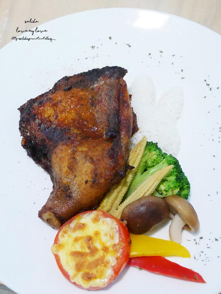 新北八里十三行博物館附近TO House兔子庭園餐廳素食料理吃素義大利麵下午茶 (2)