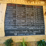 The current ale board at The Orchard bar at Preston Market