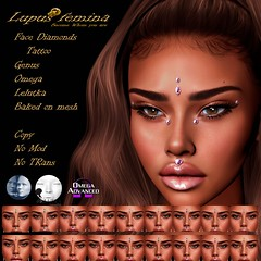 """Lupus Femina"" Face Diamonds w/Appl. & BOM"