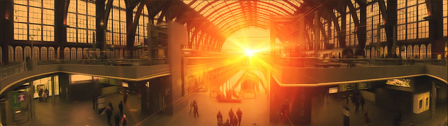 Antwerp Station sunset