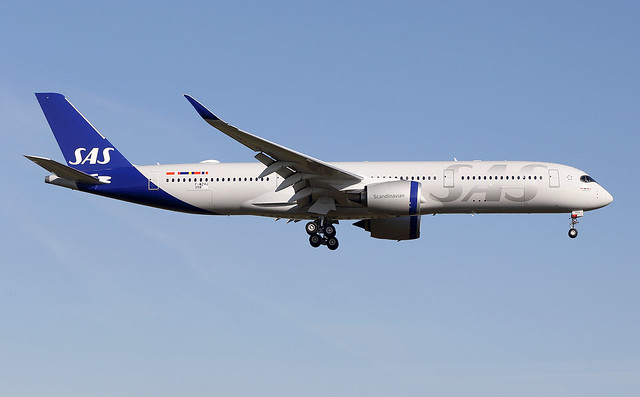 SAS  Scandinavian  Airlines / Airbus   A 350-900   F-WZHJ   msn 358 / LFBO - TLS / nov 2019