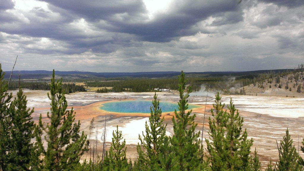 Grand Prismatic Spring, Yellowstone National Park 8/22/2013