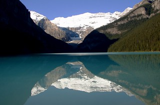 Reflection of Mount Victoria in Lake Louise, Alberta