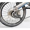 300-550 E-BIRDY Classic V-brake 經典圓管前後避震鋁合金電動折疊車-銀河灰/單速/V煞//不可調19度標準立管(含前後燈不含腳架)/(2020版)