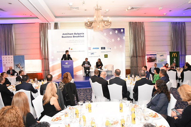 Ambassador Mustafa at AmCham Welcome Breakfast