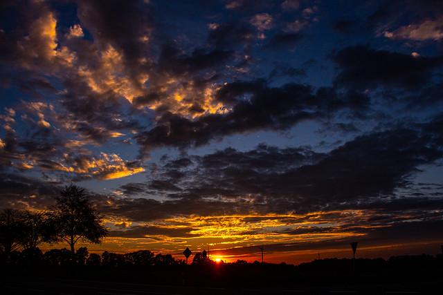 Sunset, Rosendahl-Osterwick, Germany