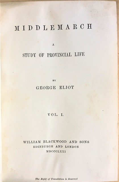 middlemarch title page