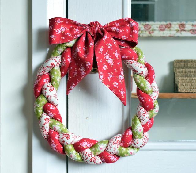 Plaited Christmas Wreath
