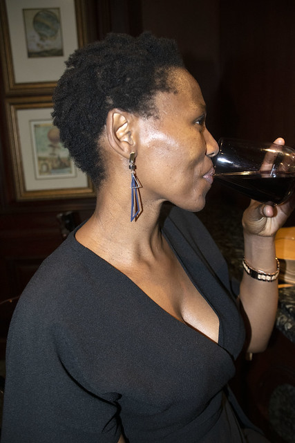 DSC_0447 Nomsa Red Wine Portrait at the Protea Edward Hotel Bar O R Tambo Parade South Beach Durban KwaZulu-Natal Province South Africa